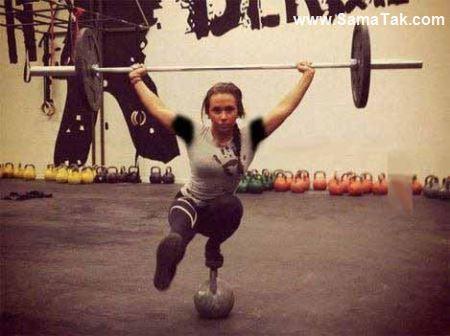 خوش اندام ترین دختر وزنه بردار 18 ساله + تصاویر