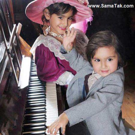 عکس دختر و پسر فرهاد مجیدی