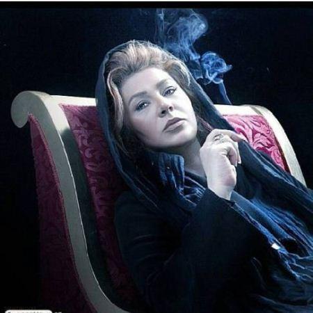 سیگار کشیدن نسرین مقانلو (عکس)