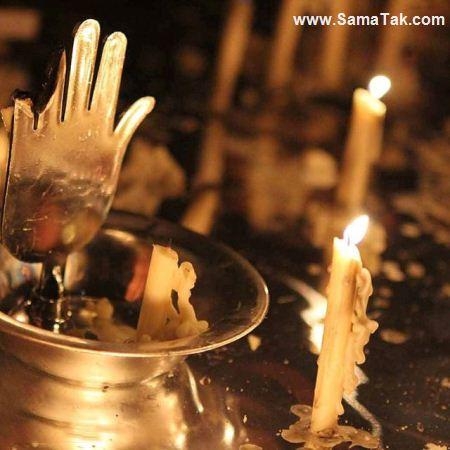 عکس شمع های شام غریبان در غروب روز عاشورا