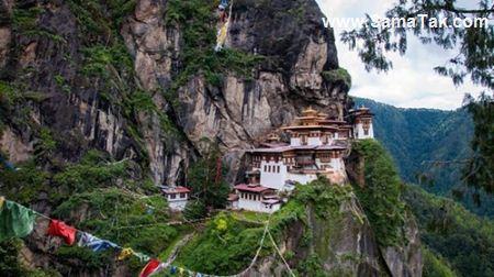 زیباترین لانه ببر در کشور بوتان (عکس)
