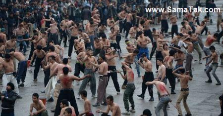 عکس های تکان دهنده از فستیوال قمه زنی عاشورا