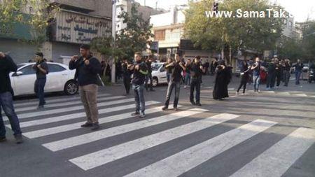 تصاویری از زنجیر زنی زنان ایرانی در روز عاشورا