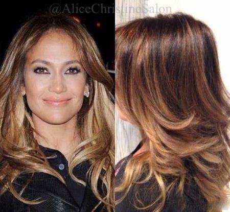 مدل های جدید هایلایت و رنگ موی جنیفر لوپز