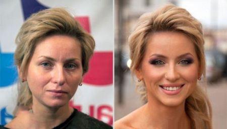 عکس دختران زیبا با آرایش و بدون آرایش
