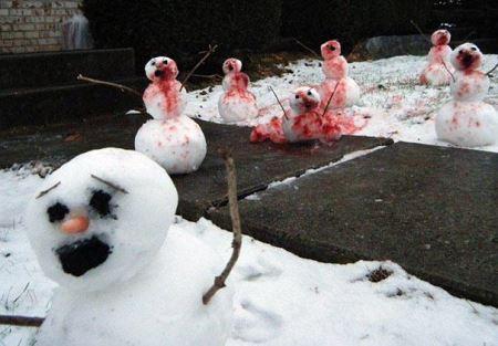 عکس آدم برفی های خنده دار و دیدنی