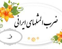 ضرب المثل های رایج ایرانی با حرف اول (ز)