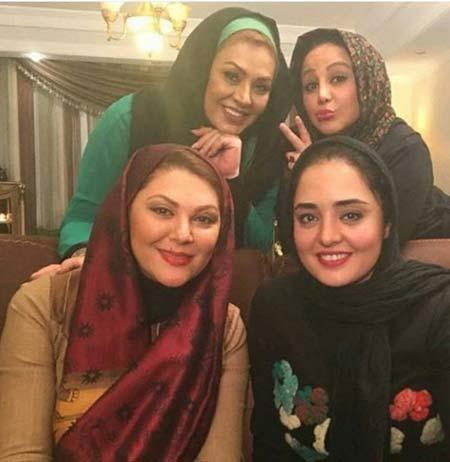 عکس های هنرمندان بفرمایید شام در منزل بازیگر معروف ایرانی
