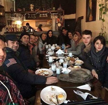 شام دورهمی بازیگران در کافه رستوران امین حیایی + تصاویر
