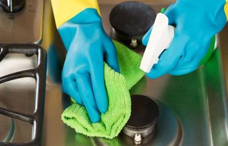 آموزش تصویری تمیز کردن اجاق گاز فردار