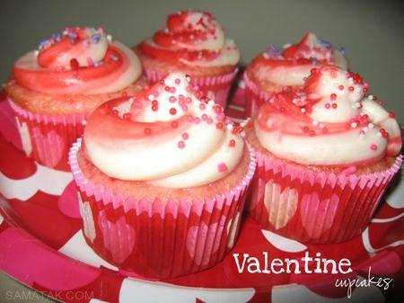 عکسهای تزئین زیبا و جذاب کاپ کیک روز ولنتاین