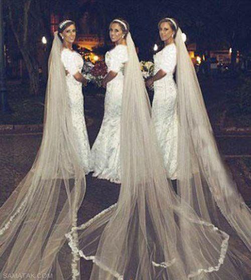 شب زفاف همزمان سه خواهر دوقلو + تصاویر