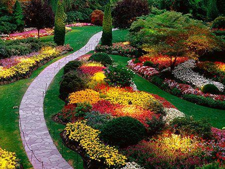 زیباترین باغ گل دنیا در کانادا