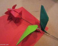 آموزش تصویری ساخت کاردستی گل لاله با مقوا برای دهه فجر