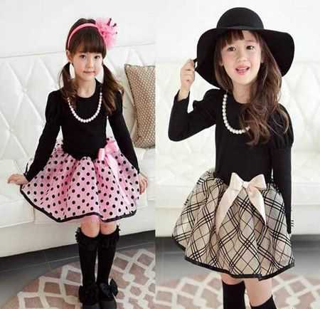 عکس طرح های جدید لباس عید دخترانه