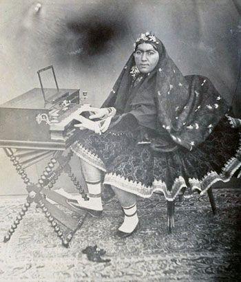 عکس دیده نشده از آخرین همسر ناصرالدین شاه