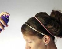 فرم دادن به موها با استفاده از تافت و اسپری مو