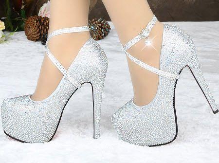 عکس زیباترین نمونه های کفش مجلسی زنانه پاشنه دار
