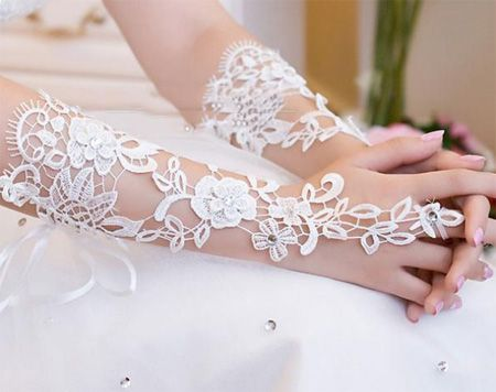 عکس جدیدترین مدل های دستکش عروس ست با لباس عروس