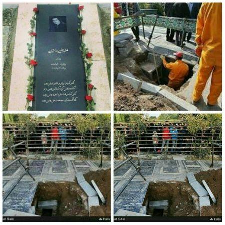 جزئیات نبش قبر و دزدیده شدن جسد مرتضی پاشایی در بهشت زهرا (عکس)