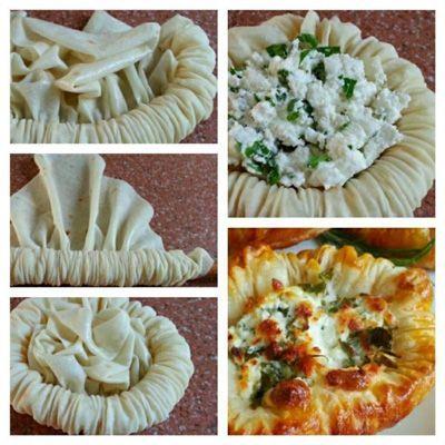 طرز تهیه بشقاب پنیری با خمیر یوفکا