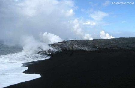 سواحل معروف جهان با ماسه های سیاه رنگ + تصاویر