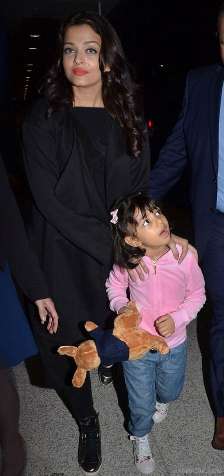 آلبوم عکس های خفن آیشواریا رای و دخترش آرادهیا