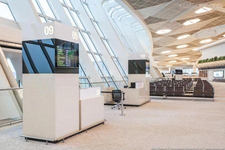 عکس های فرودگاه باکو آذربایجان زیبا و پیشرفته ترین فرودگاه جهان