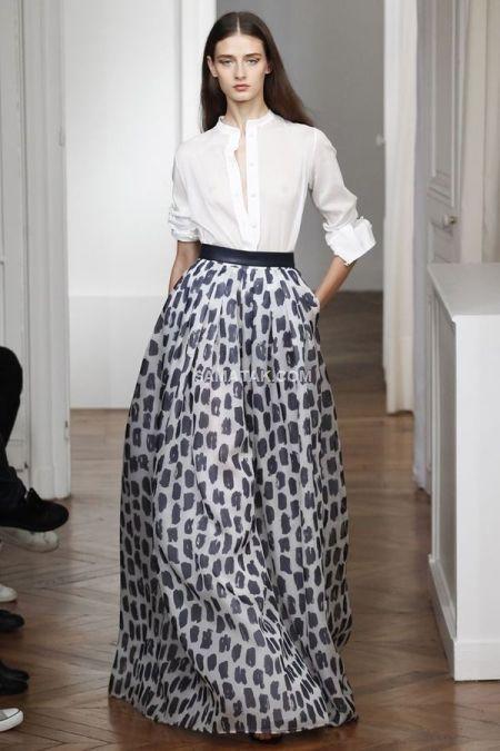 عکس جدیدترین مدل های دامن ماکسی بلند مجلسی