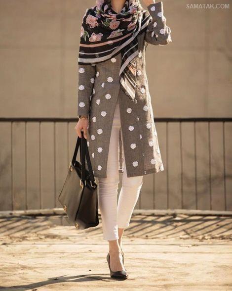 مانتو تنگ ایرانی با رنگ های جدید