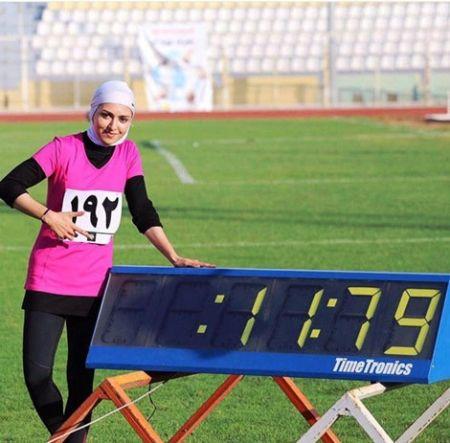 فرزانه فصیحی سریع ترین دونده زن ایرانی + تصاویر