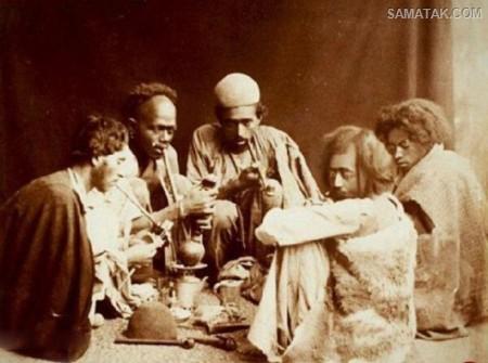 تیپ مردم معتاد وافوری ایران در دوره ناصر الدین شاه (عکس)