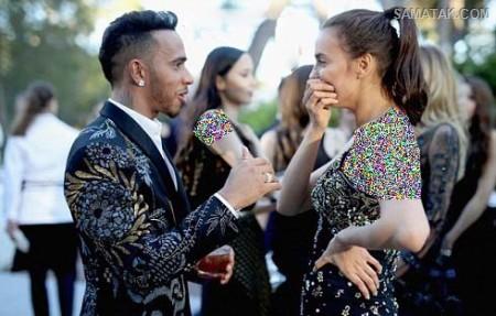 عکس های عاشقانه لوئیز همیلتون با نامزد سابق رونالدو