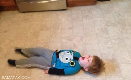 عکس های خنده دار گریه کردن بچه ها به دلایل کودکانه