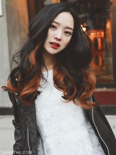 هایلایت موهای مشکی با رنگ های جدید و امروزی