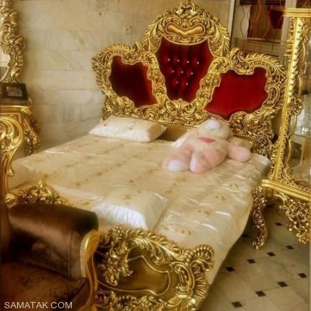 مدل تختخواب و سرویس خواب سلطنتی عروس