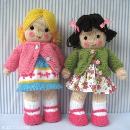 عروسک های بافتنی زیبا بافته شده با کاموا