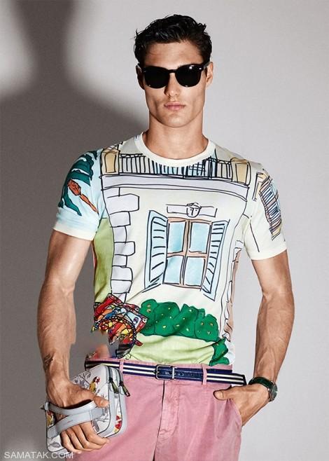 9 مدل تیشرت آستین کوتاه مردانه با رنگ های شاد