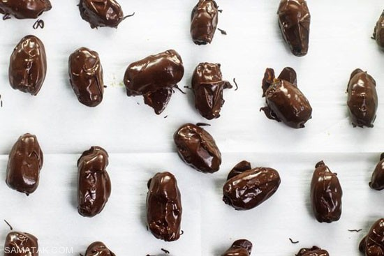 طرز تهیه خرما با شکلات تلخ