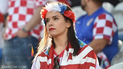 تصاویر دختران بی حجاب لهستانی و کرواسی در ورزشگاه