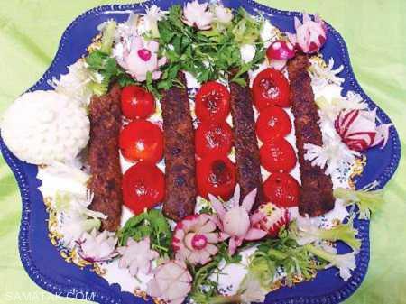 بهترین ایده ها برای تزیین کباب کوبیده با گوجه