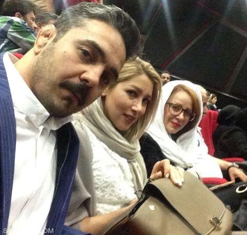 تصاویر الناز حبیبی به همراه مادر و برادرش