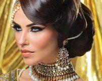 مدل آرایش صورت هندی + مدل آرایش هندی ساده