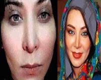 عکس های بازیگران زن ایرانی قبل و بعد از آرایش