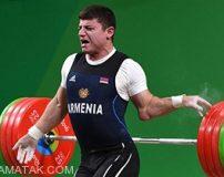 صحنه دلخراش شکستن دست وزنه بردار ارمنستانی (تصاویر 18+)