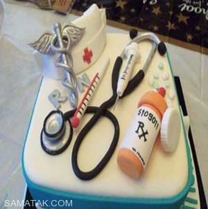 کیک های خوشمزه با تجهیزات پزشکی
