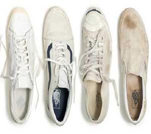 آموزش لکه گیری و تمیز کردن کفش های کتانی