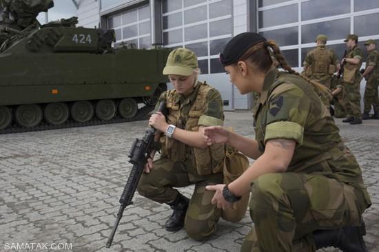 عکس های پادگان سربازی دختران نروژ