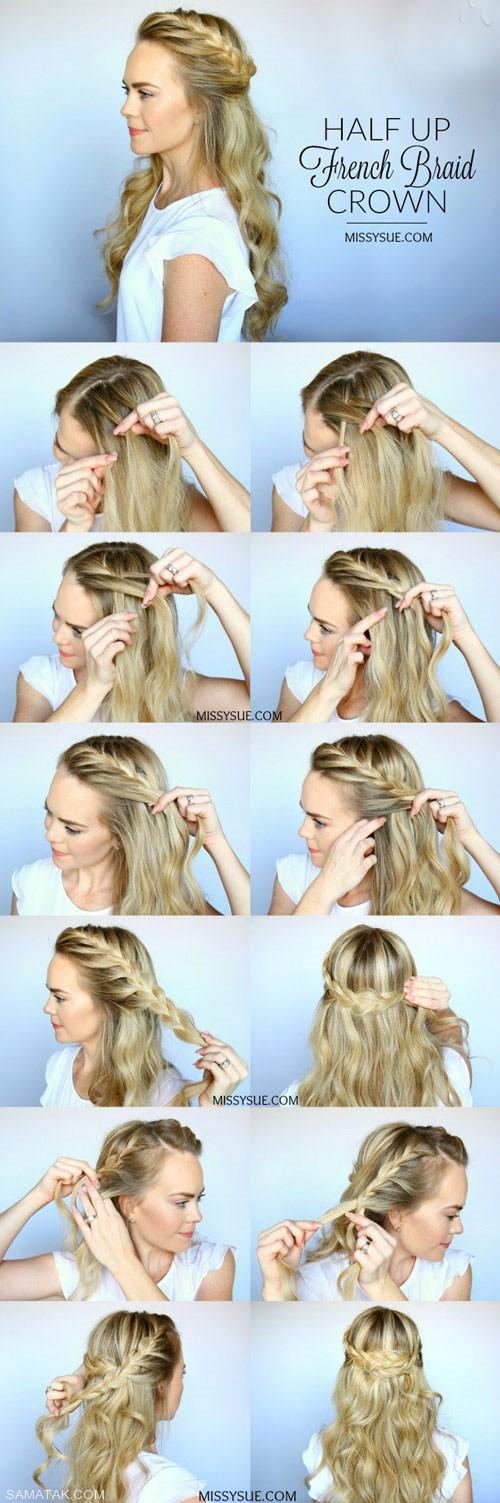 آموزش گام به گام بافت های مختلف مو همراه با تصویر