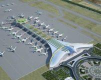 فرودگاه بین المللی عشق آباد با ساختمان جالب و منحصر به فرد + تصاویر